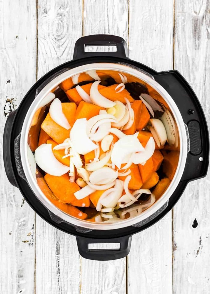 How to make pumpkin soup in the Instant pot step 2