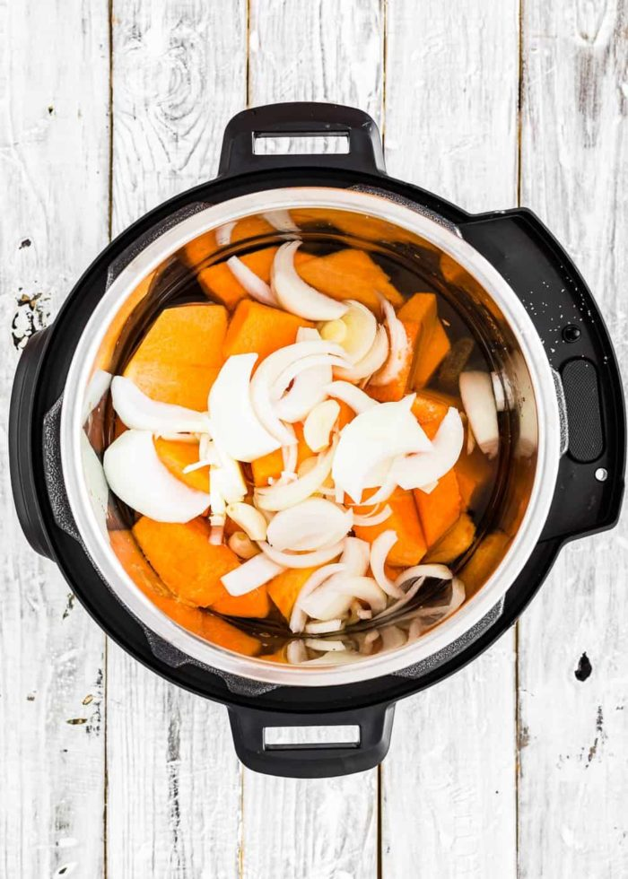 How to make pumpkin soup in the Instant pot step 3