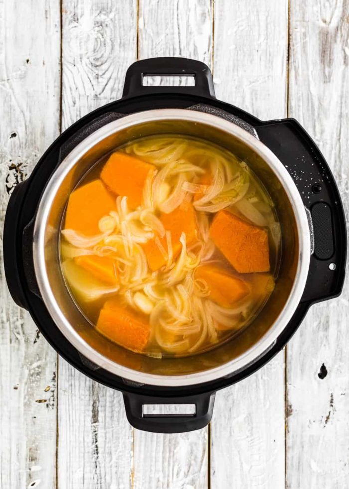 How to make pumpkin soup in the Instant pot step 4