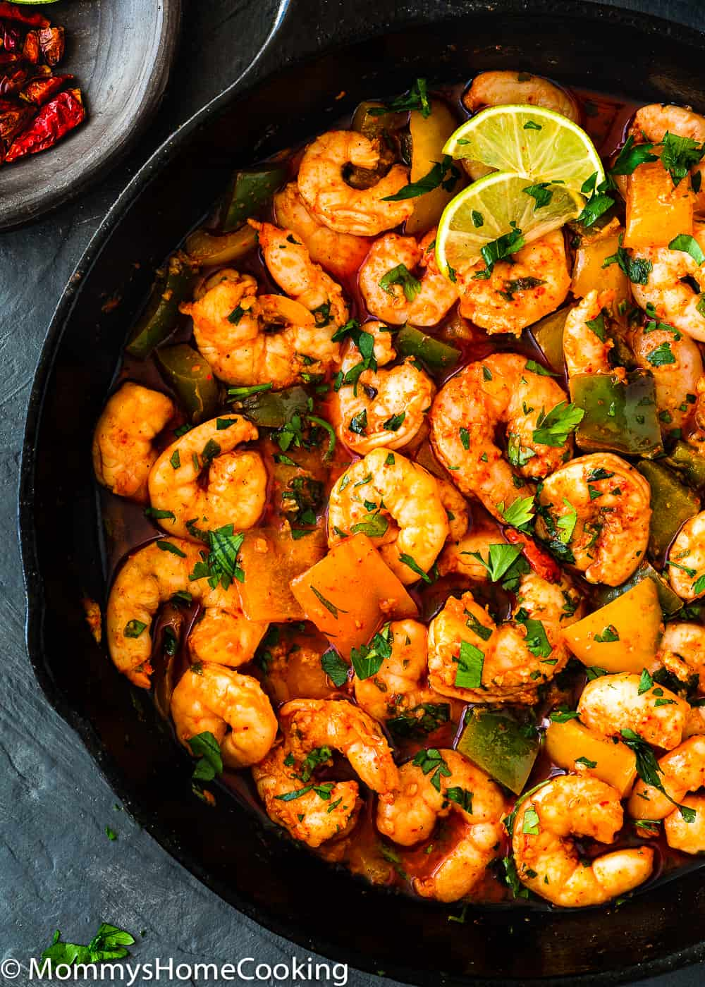 peri peri shrimp with parsley
