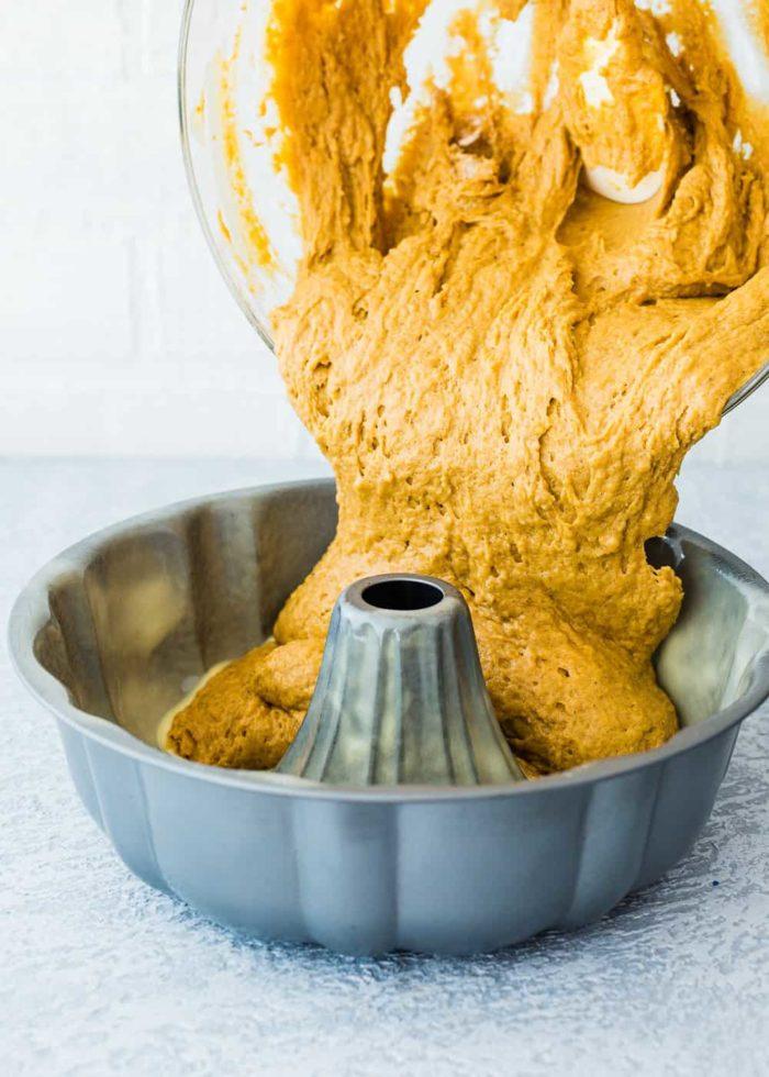 How to make eggless pumpkin cake step 4