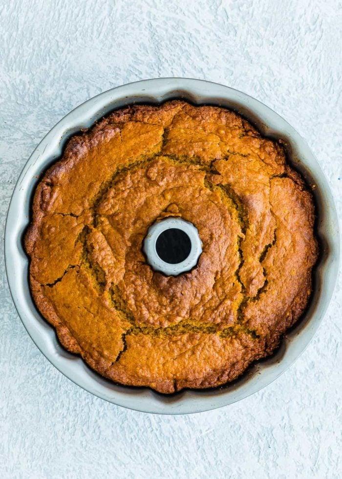 How to make eggless pumpkin cake step 5