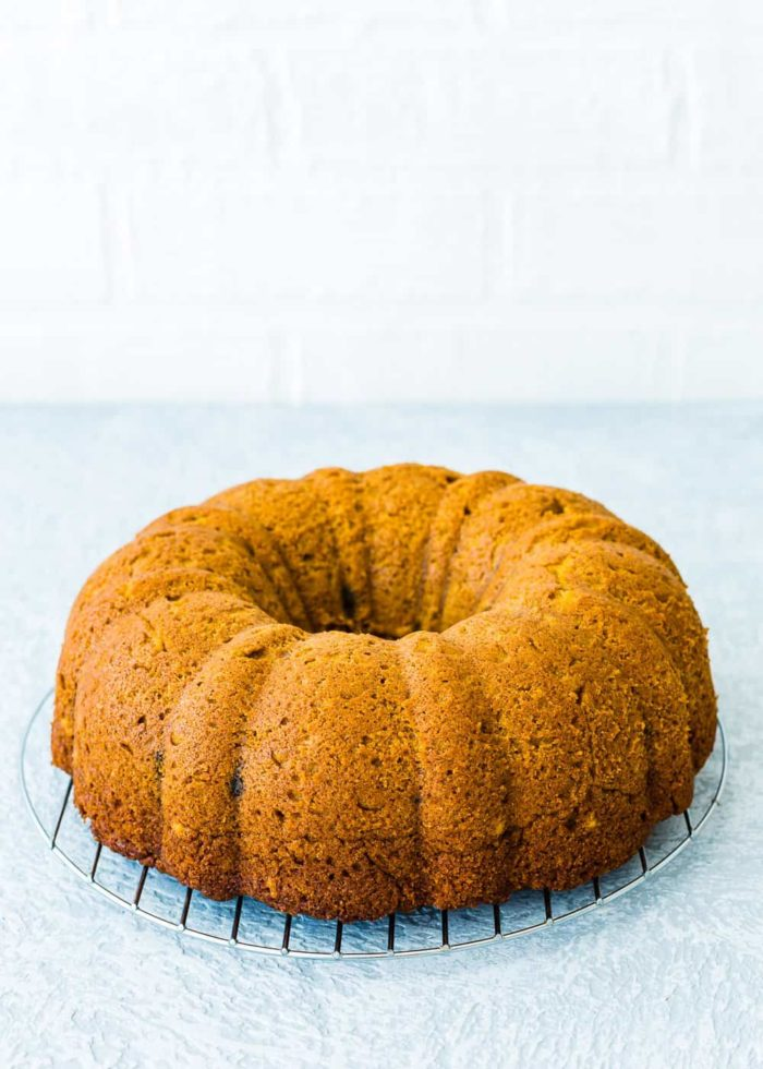 How to make eggless pumpkin cake step 6