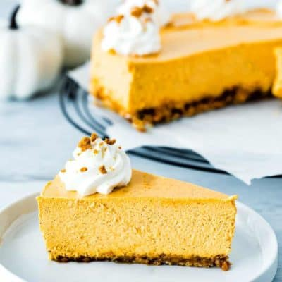 Eggless Pumpkin Cheesecake
