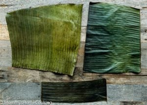 How to cut the banana leaves to make hallacas