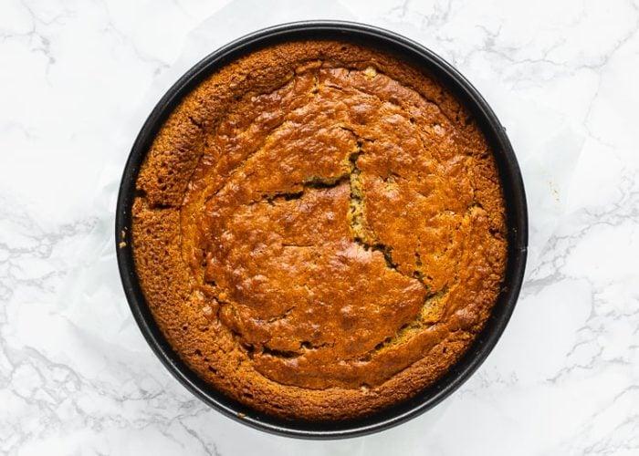 How to make eggless banana cake step 10