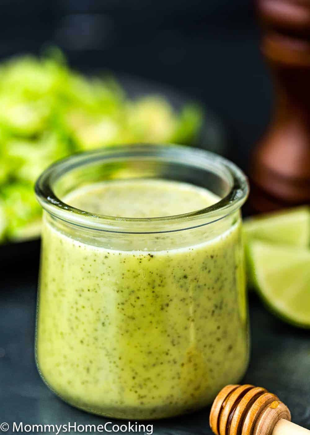 Green Onion Vinaigrette in a glass container