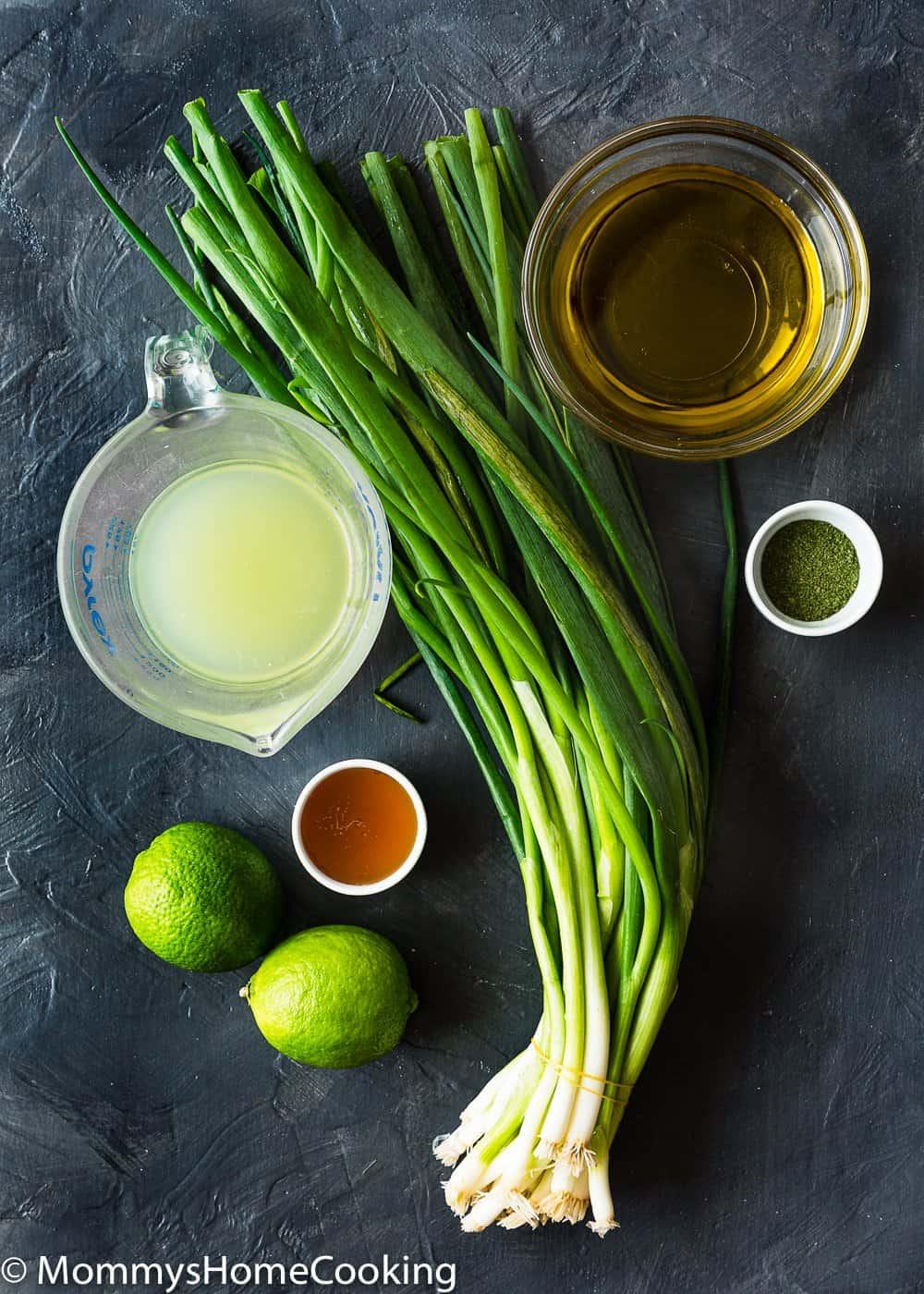 Green Onion Vinaigrette Ingredients