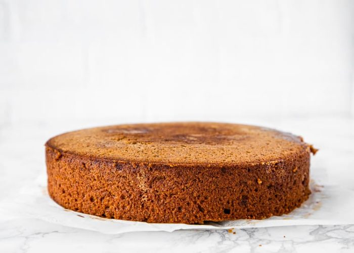 how to frost a eggless banana cake step 1