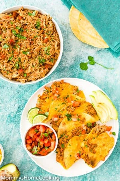 Easy Instant Pot Mexican Shredded Chicken and tacos