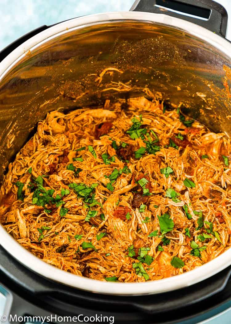 Easy Instant Pot Mexican Shredded Chicken in a pot