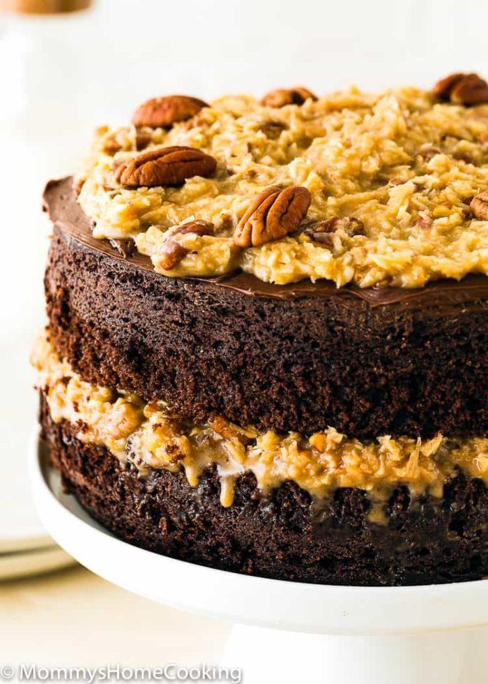 2-layers Eggless German Chocolate Cake
