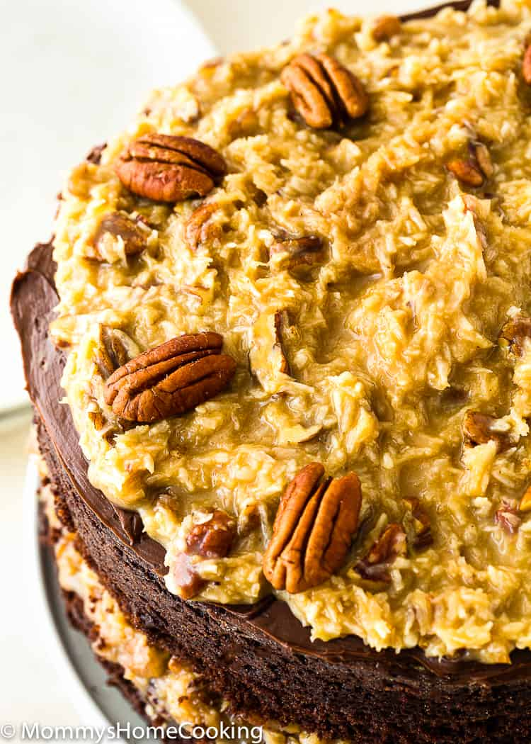 Eggless German Chocolate Cake frosting