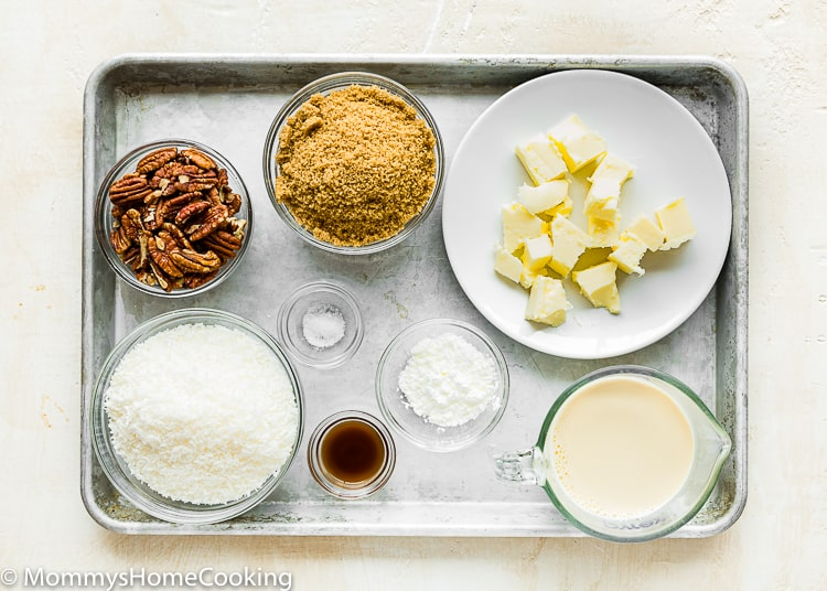 Eggless German Chocolate Cake ingredients