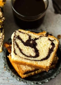 Eggless Marble Cake slices