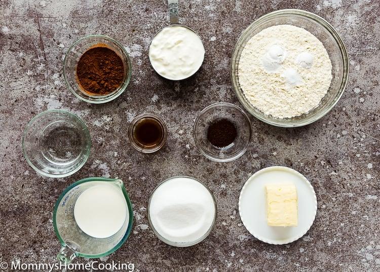 Eggless Marble Cake Ingredients