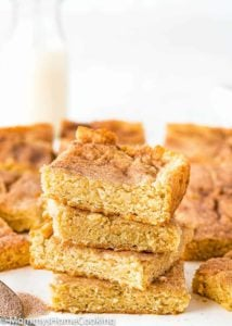 Stack of Eggless Snickerdoodle Bars