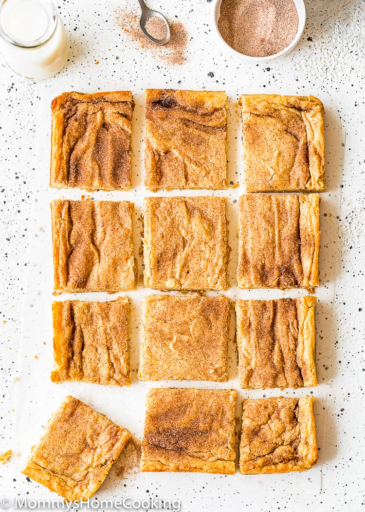 Eggless Snickerdoodle Bars