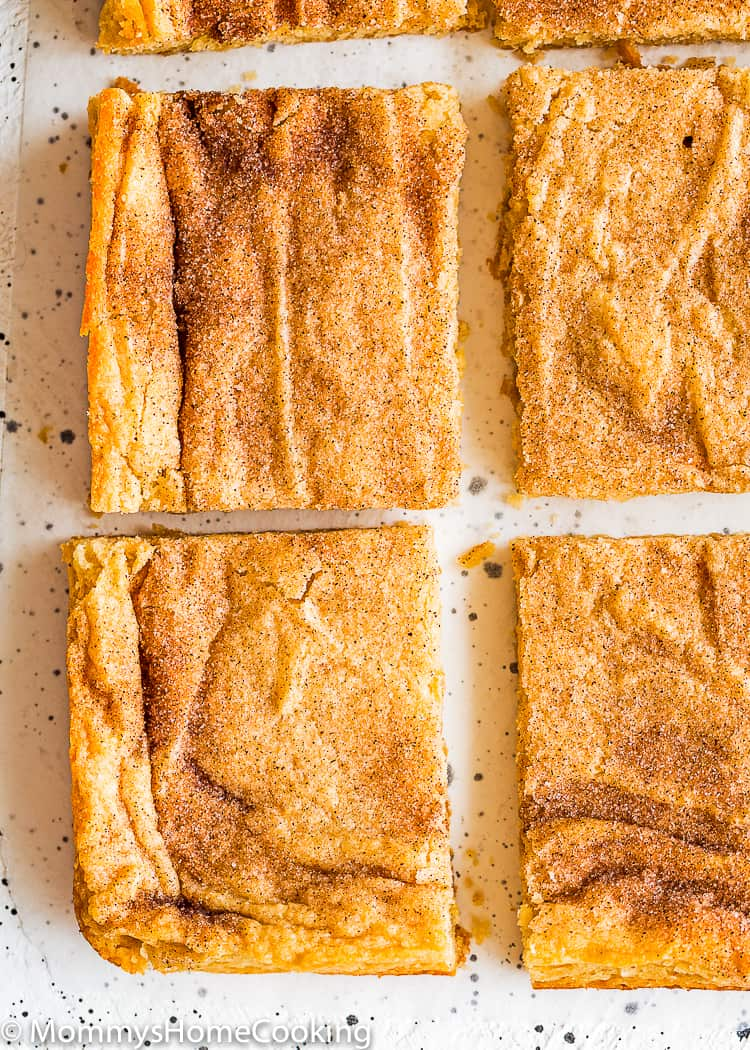 best Eggless Snickerdoodle Bars