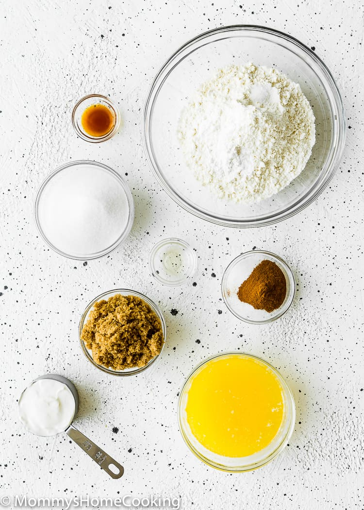 Eggless Snickerdoodle Bars Ingredients