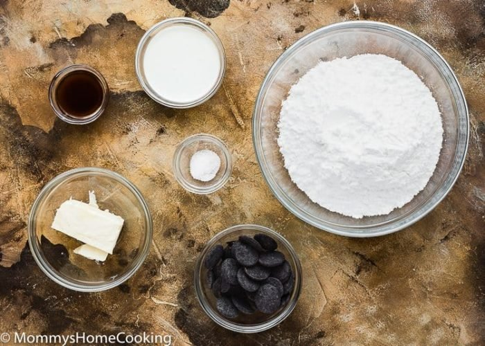 Easy Chocolate Frosting ingredients