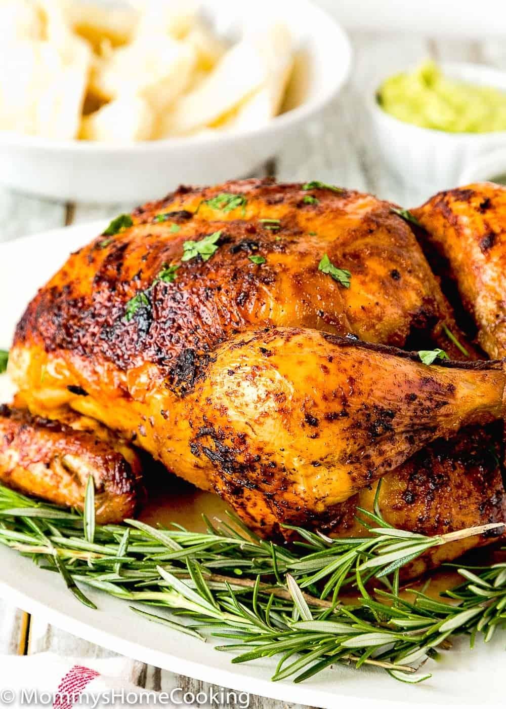 Easy Venezuelan Roasted Chicken with mojo