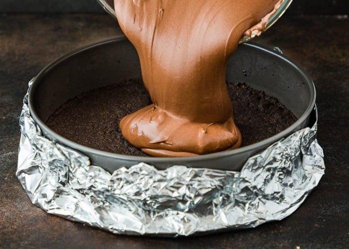 How to make Eggless Chocolate Cheesecake step by step 12