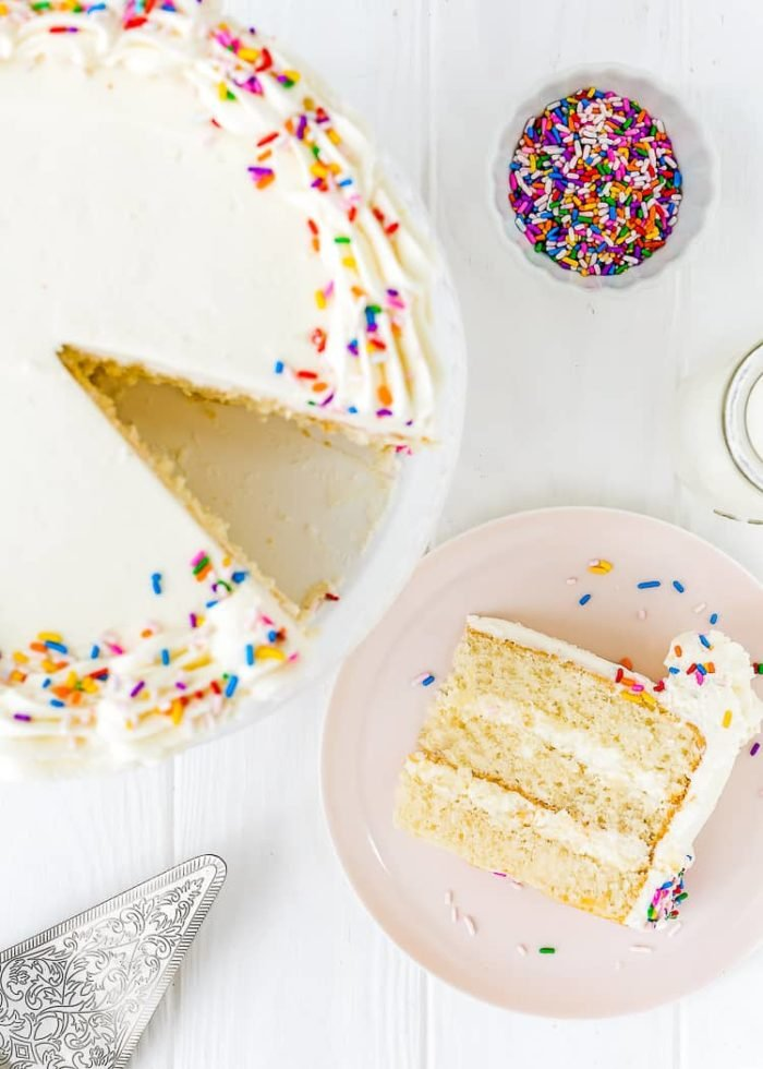 vanilla cake made without eggs