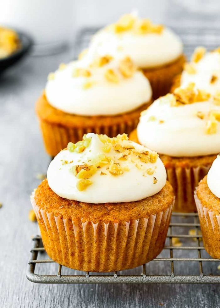 carrot cupcakes made without eggs