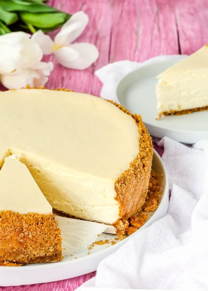 classic cheesecake made without eggs