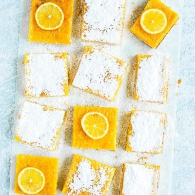 Easy Eggless Lemon Bars