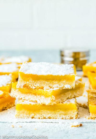 stack of Eggless Lemon Bars