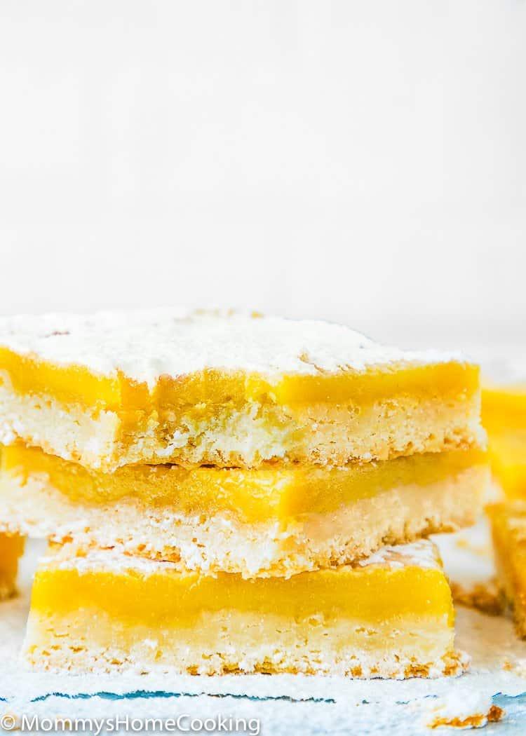 Perfect Eggless Lemon Bars