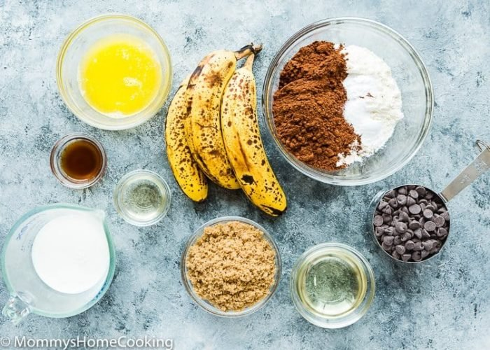 Eggless Chocolate Banana Bread Ingredients