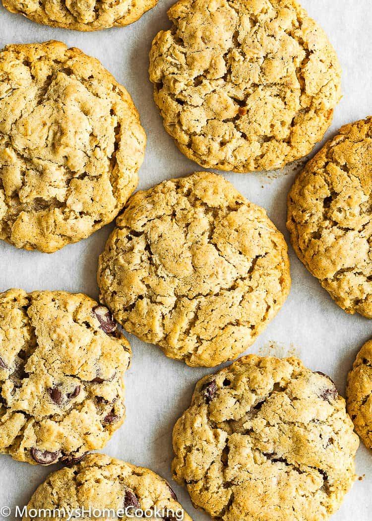 chewy Eggless Oatmeal Cookies