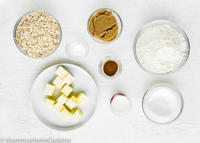 Eggless Oatmeal Cookies Ingredients
