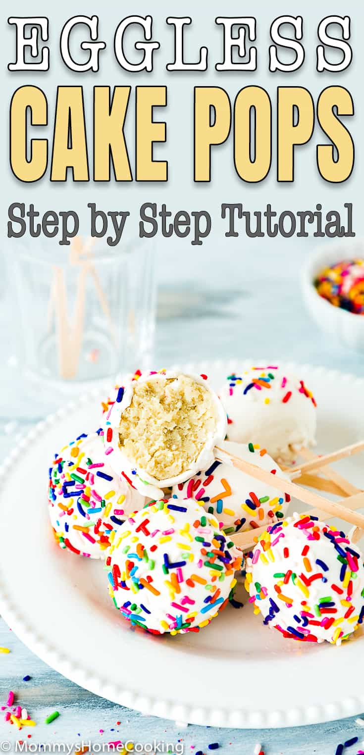 eggless cake pop easy tutorial with descriptive text