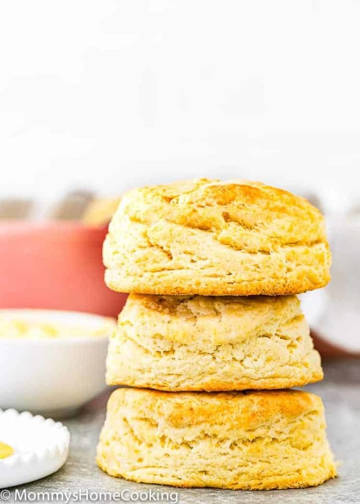 Easy Eggless Flaky Biscuits stack