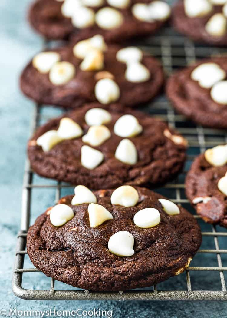 Eggless White Chip Chocolate Cookies