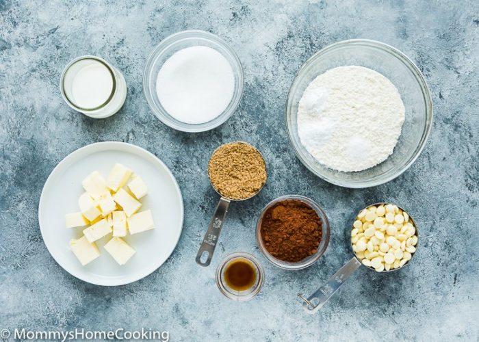 Eggless White Chip Chocolate Cookies ingredients