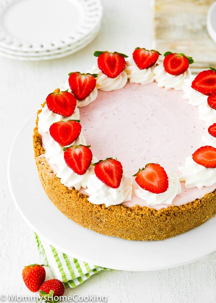 Creamy No-Bake Strawberry Cheesecake