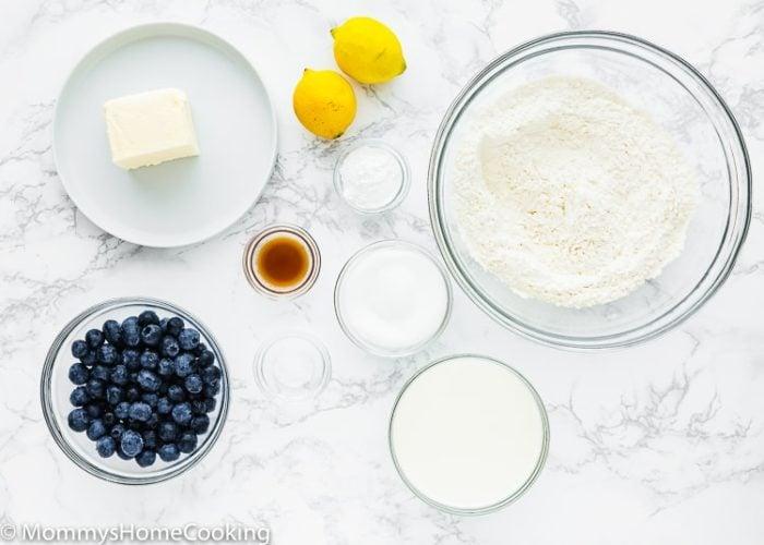 Eggless Blueberry Scones Ingredients