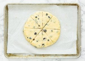 How to make Eggless Blueberry Scones step 12