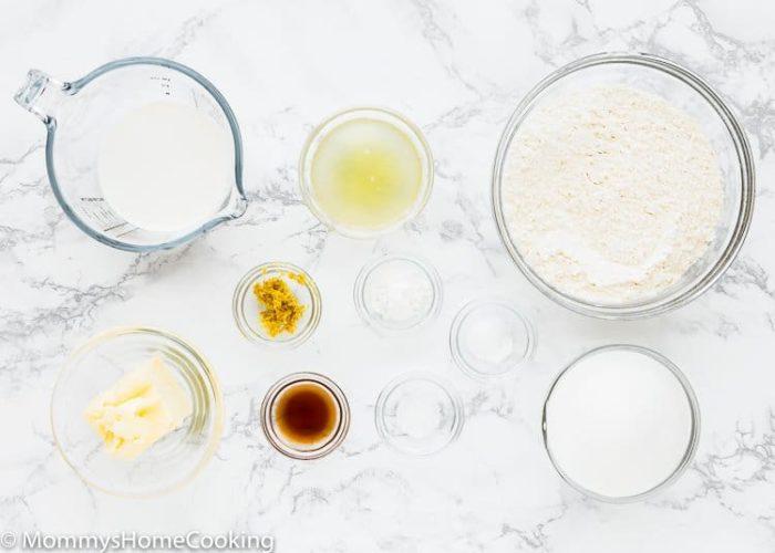 Eggless Lemon Pound Cake Ingredients