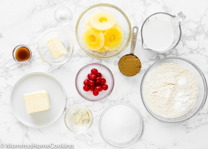 Eggless Pineapple Upside Down Cake Ingredients