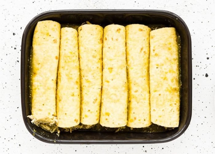 How to make Quick and Easy Enchiladas Suizas step 6