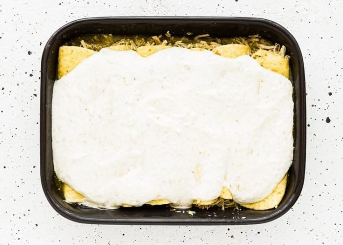 How to make Quick and Easy Enchiladas Suizas step 8