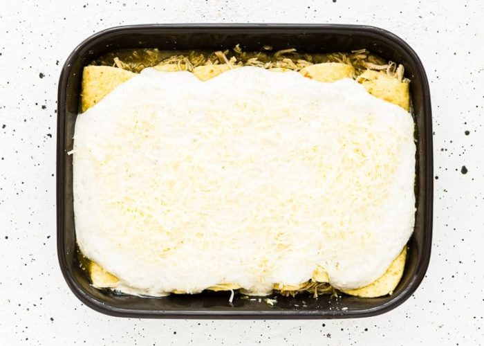 How to make Quick and Easy Enchiladas Suizas step 9