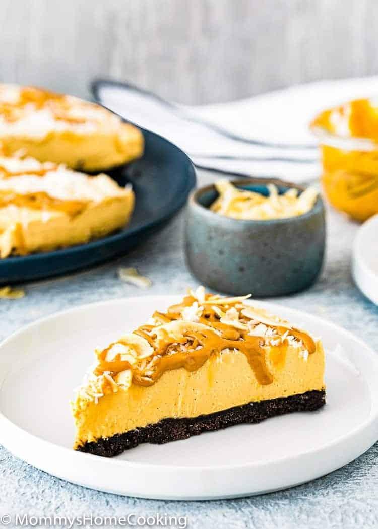 No-Bake Eggless Dulce de Leche Cheesecake