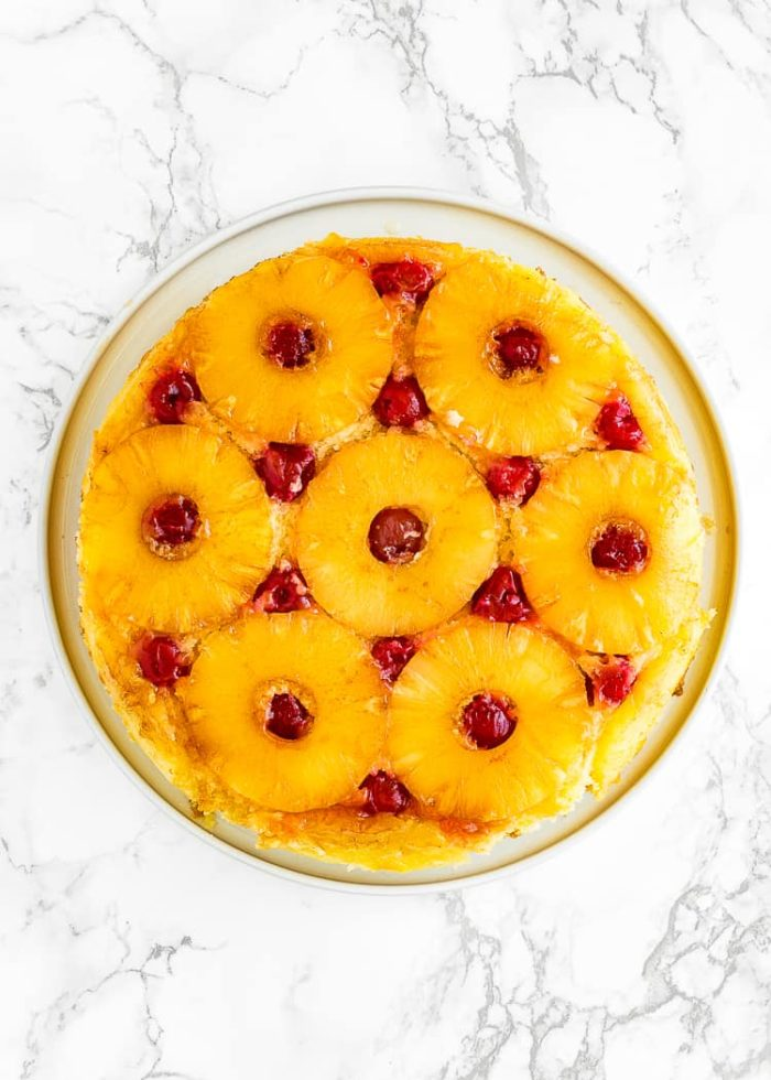 how to make Eggless Pineapple Upside Down Cake step 8